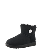UGG, Dames Boots 'Mini Bailey Button Bling', zwart