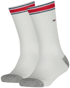 Tommy Hilfiger Chaussettes TH KIDS ICONIC SPORTS SOCK 2P en blanc