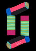 Happy Socks Chaussettes HALF STRIPE en bleu