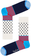 Happy Socks Chaussettes STRIPES & DOT SOCK en blanc