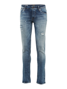 JACK & JONES, Heren Jeans 'JJIGlenn', blauw denim