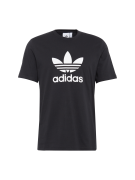 ADIDAS ORIGINALS, Heren Shirt 'TREFOIL', zwart / wit