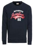 JACK & JONES, Heren Sweatshirt 'JJELOGO SWEAT CREW NECK TWO', blauw / ...