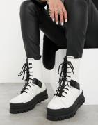 UGG Sheena lace up boots in white